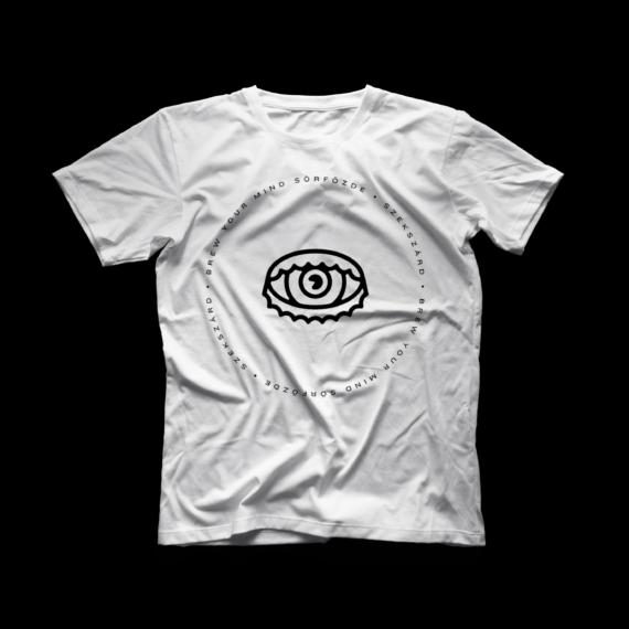 Brew Your Mind logós póló XL-es fehér